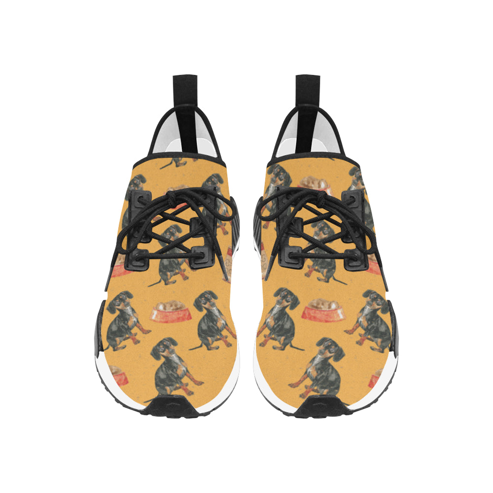 Dachshund Water Colour Pattern No.1 Women's Draco Running Shoes - TeeAmazing