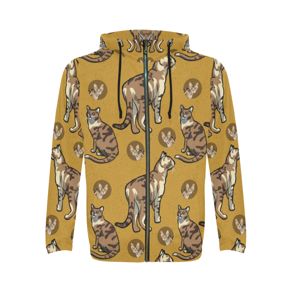 Sokoke All Over Print Full Zip Hoodie for Men - TeeAmazing