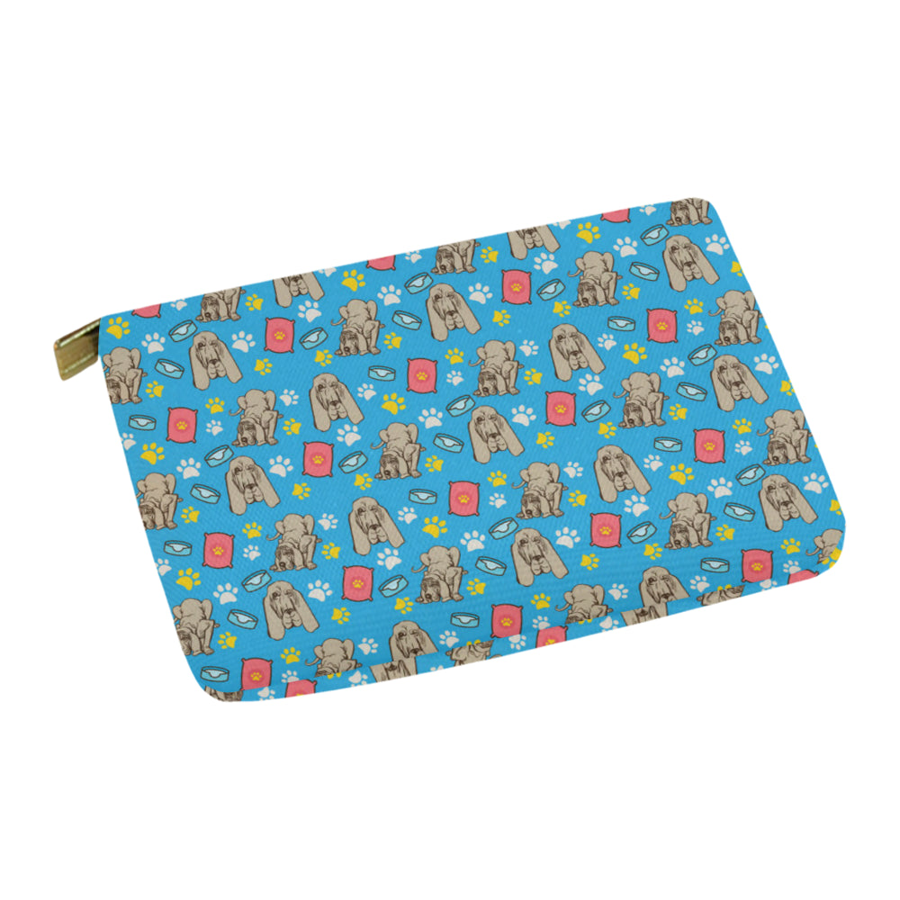 Bloodhound Pattern Carry-All Pouch 12.5x8.5 - TeeAmazing