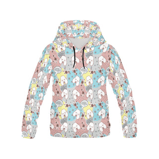 Poodle Pattern All Over Print Hoodie for Women - TeeAmazing