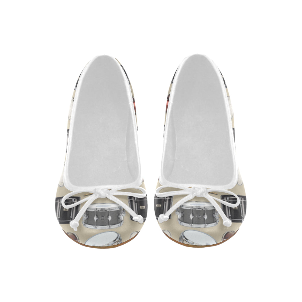 Drum Pattern Juno Ballet Pumps - TeeAmazing