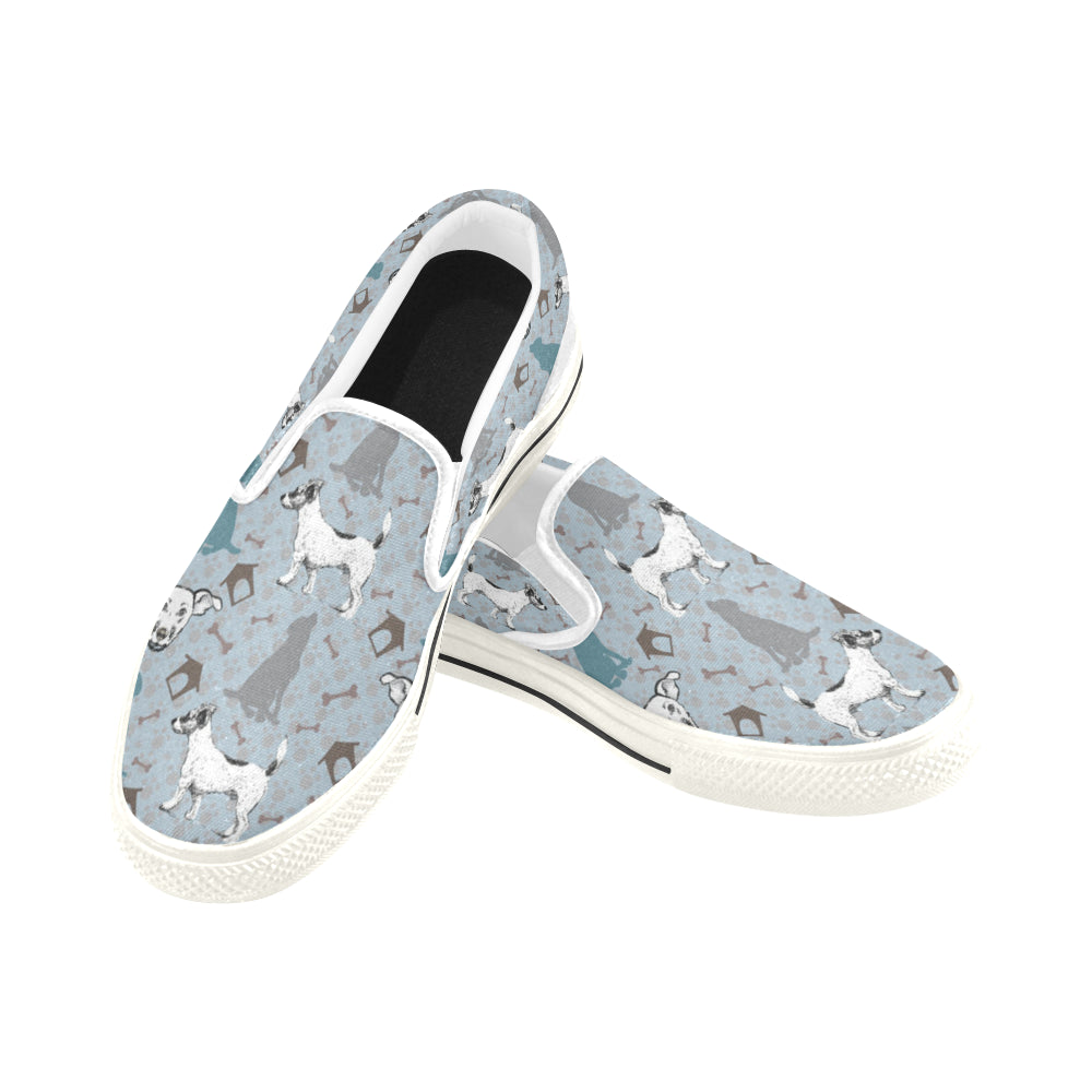 Mongrel White Women's Slip-on Canvas Shoes/Large Size (Model 019) - TeeAmazing