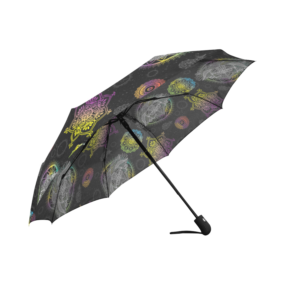 Lotus and Mandalas Auto-Foldable Umbrella - TeeAmazing