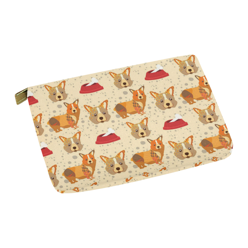 Corgi Pattern Carry-All Pouch 12.5x8.5 - TeeAmazing