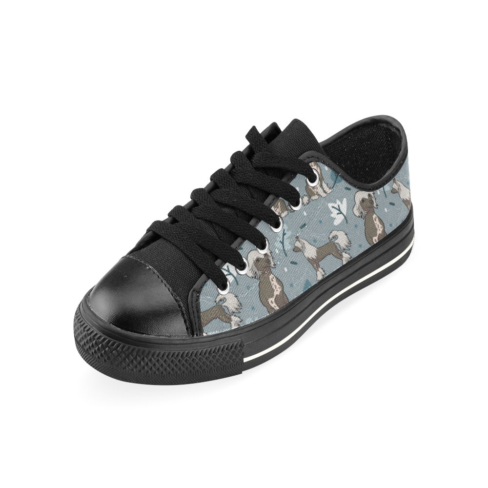 Chinese Crested Black Men's Classic Canvas Shoes - TeeAmazing