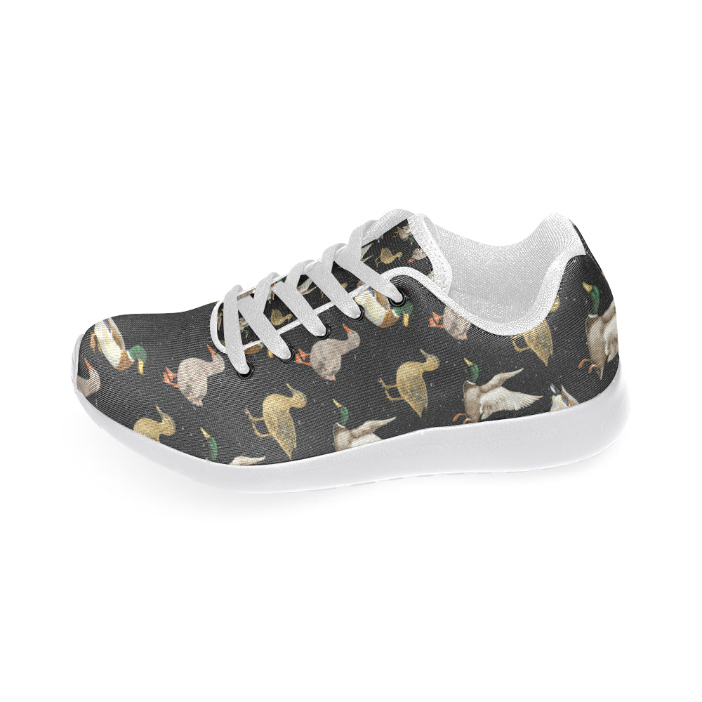 Mallard Duck White Sneakers for Women - TeeAmazing
