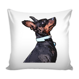 Miniature Pinscher Dog Pillow Cover - Miniature Pinscher Accessories - TeeAmazing - 1