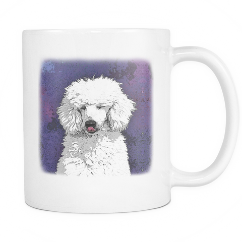 Painting Poodle Dog Mugs & Coffee Cups - Poodle Coffee Mugs - TeeAmazing