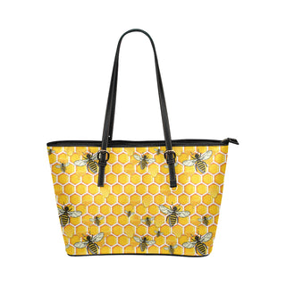 Bee Leather Tote Bag/Small - TeeAmazing