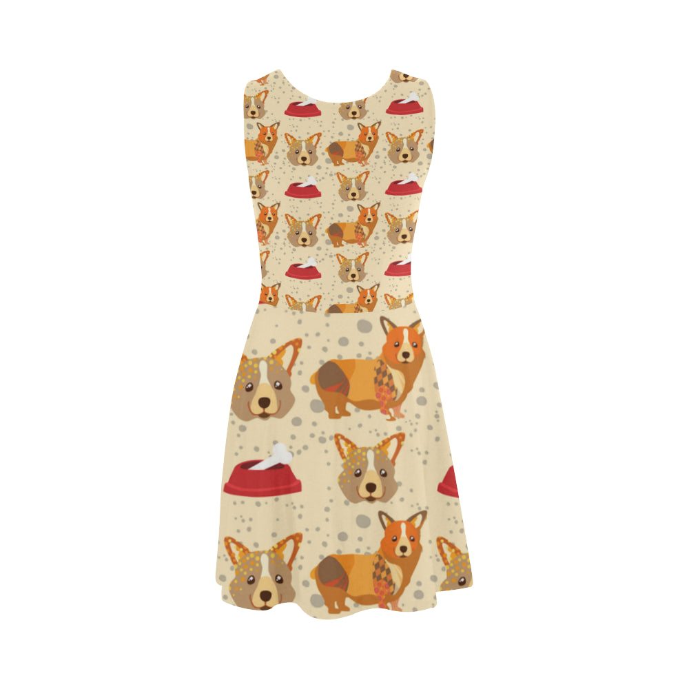 Corgi Pattern Atalanta Sundress - TeeAmazing