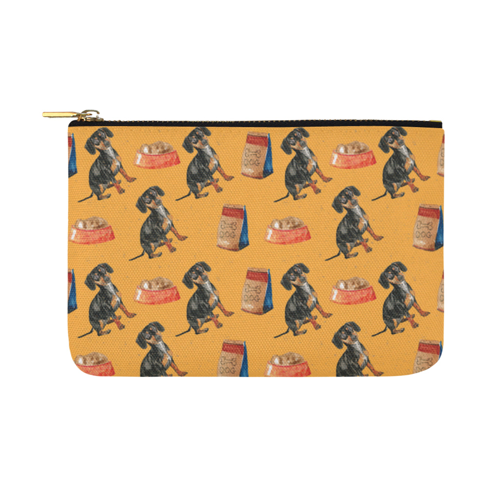 Dachshund Water Colour Pattern No.1 Carry-All Pouch 12.5x8.5 - TeeAmazing