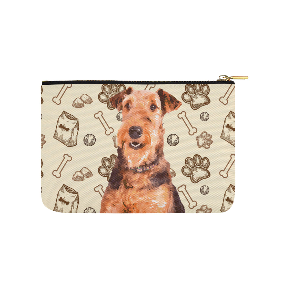 Airedale Terrier Carry-All Pouch 9.5x6 - TeeAmazing