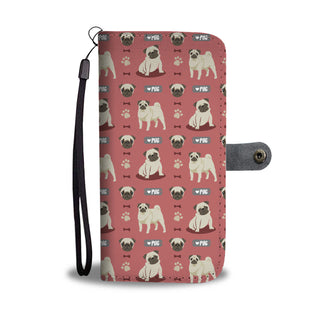 Pug Pattern Design Wallet Phone Case - Pug Phone Case Wallet - TeeAmazing