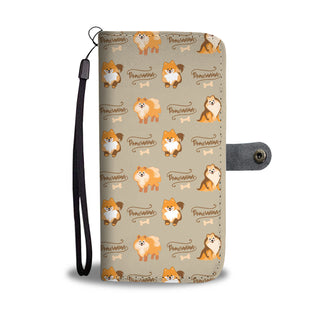 Pomeranian Pattern Design Wallet Phone Case - Pom Phone Case Wallet - TeeAmazing