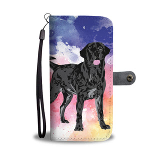 Black Labrador Watercolor Design No.1 Wallet Phone Case - TeeAmazing