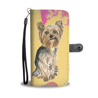 Yorkshire Terrier Watercolor Design No.1 Wallet Phone Case - TeeAmazing