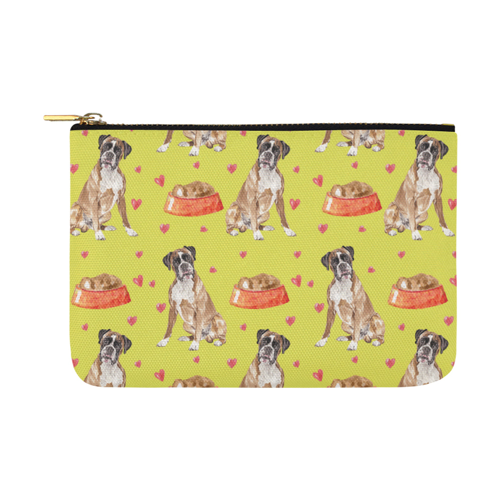 Boxer Water Colour Pattern No.2 Carry-All Pouch 12.5x8.5 - TeeAmazing