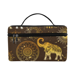 Elephant and Mandalas Cosmetic Bag/Large - TeeAmazing