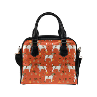 Jack Russell Terrier Water Colour Pattern No.1 Shoulder Handbag - TeeAmazing