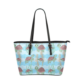 Turtle Leather Tote Bag/Small (Model 1651) - TeeAmazing