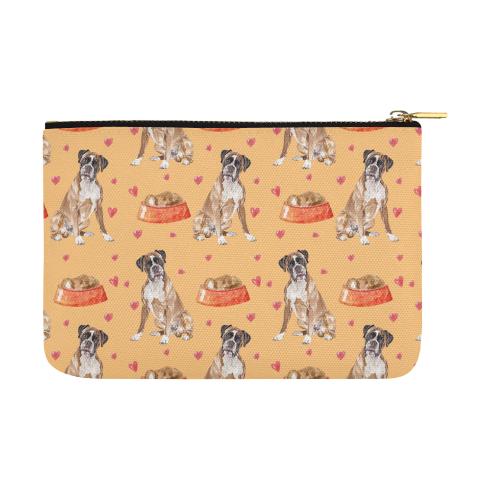 Boxer Water Colour Pattern No.1 Carry-All Pouch 12.5x8.5 - TeeAmazing
