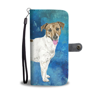 Jack Russell Watercolor Design No.1 Wallet Phone Case - TeeAmazing
