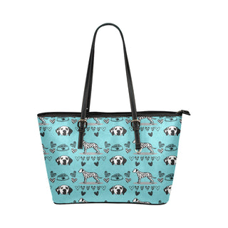 Dalmatian Pattern Leather Tote Bag/Small (Model 1651) - TeeAmazing