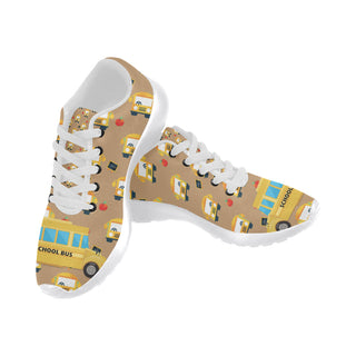 aed1fa27b0 School Bus White Sneakers for Women - TeeAmazing