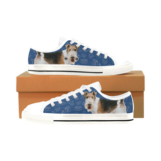 Wire Hair Fox Terrier Dog White Men's Classic Canvas Shoes/Large Size - TeeAmazing