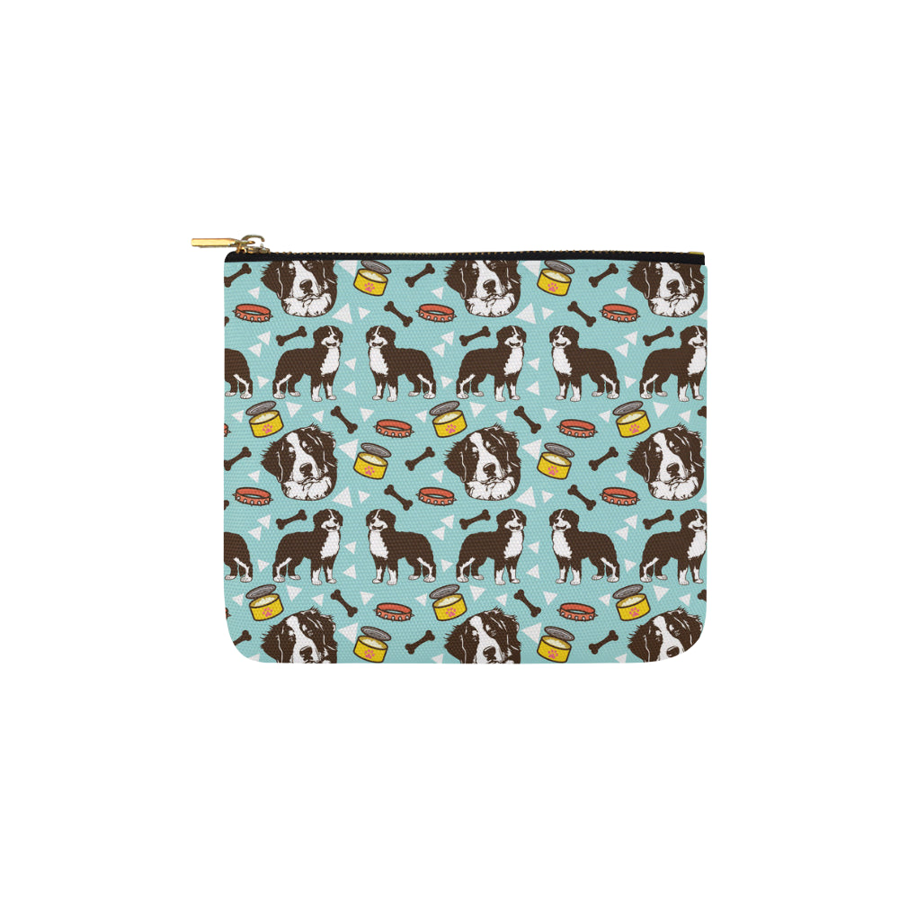 Bernese Mountain Pattern Carry-All Pouch 6x5 - TeeAmazing