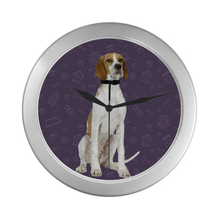 English Pointer Dog Silver Color Wall Clock - TeeAmazing