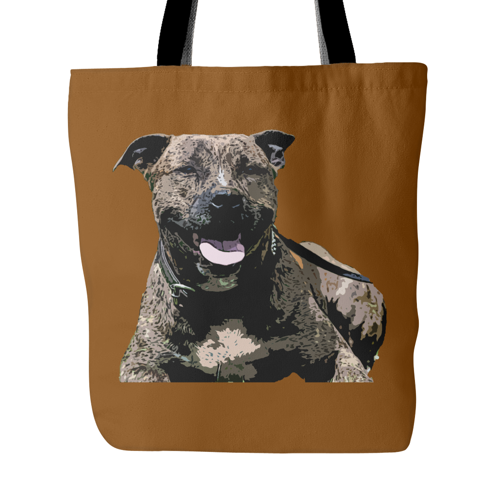 Staffordshire Bull Terrier Dog Tote Bags - Staffordshire Bull Terrier Bags - TeeAmazing