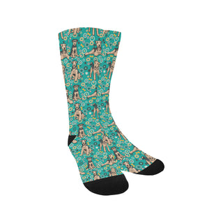 Airedale Terrier Pattern Trouser Socks - TeeAmazing