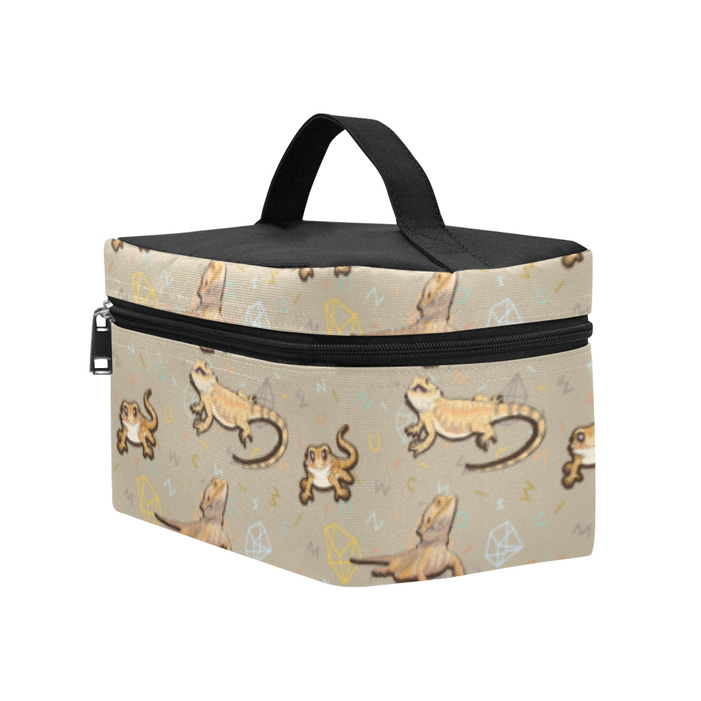 Bearded Dragon Lizard Pattern Cosmetic Bag/Large - TeeAmazing