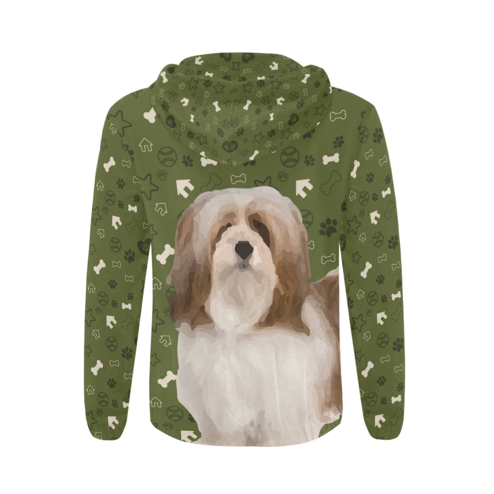 Lhasa Apso Dog All Over Print Full Zip Hoodie for Men - TeeAmazing