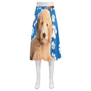 Goldendoodle Mnemosyne Women's Crepe Skirt (Model D16) - TeeAmazing