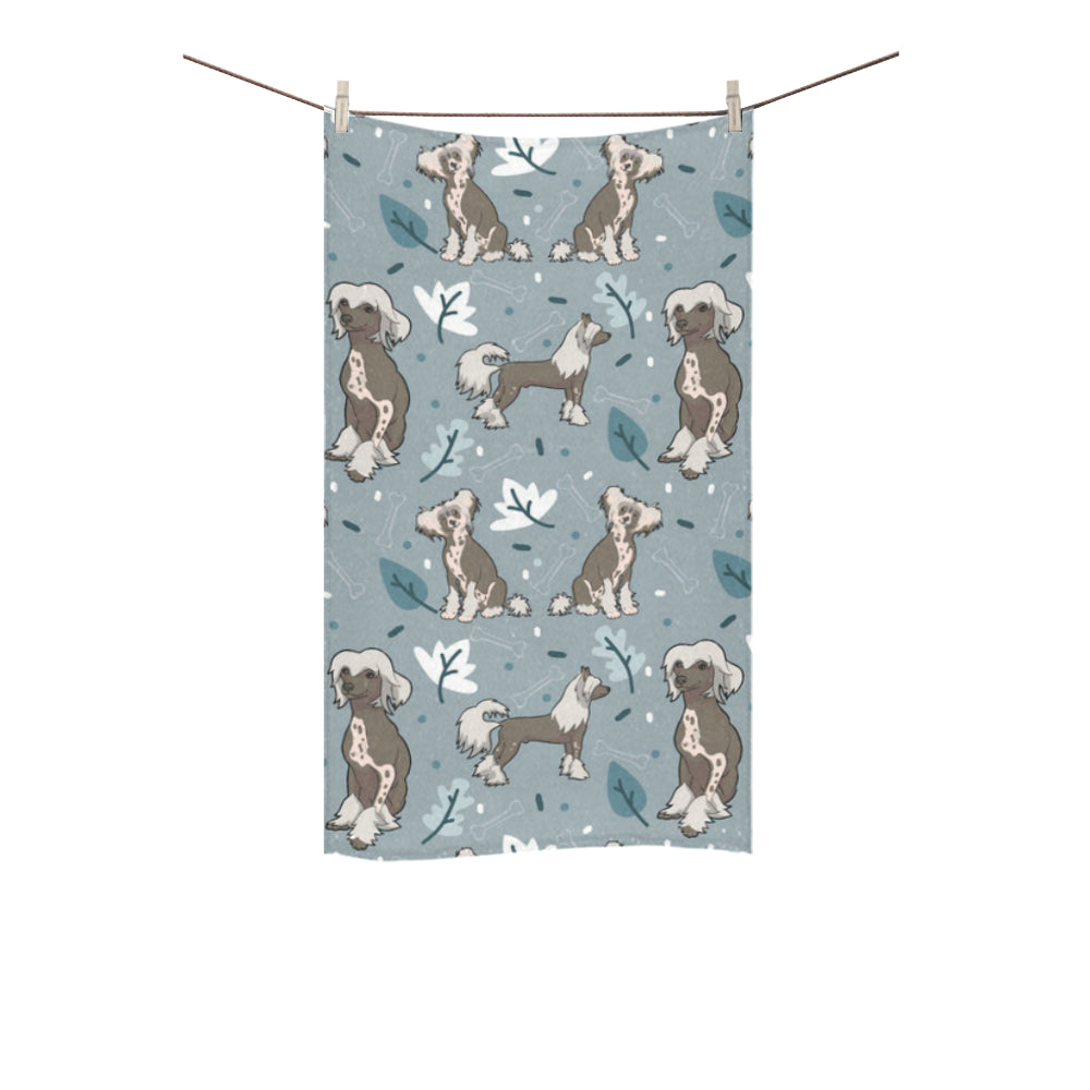 "Chinese Crested Custom Towel 16""x28"" - TeeAmazing"