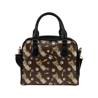 Yorkshire Terrier Water Colour Pattern No.1 Shoulder Handbag (Model 1634) - TeeAmazing