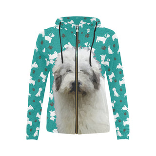 Mioritic Shepherd Dog All Over Print Full Zip Hoodie for Women - TeeAmazing