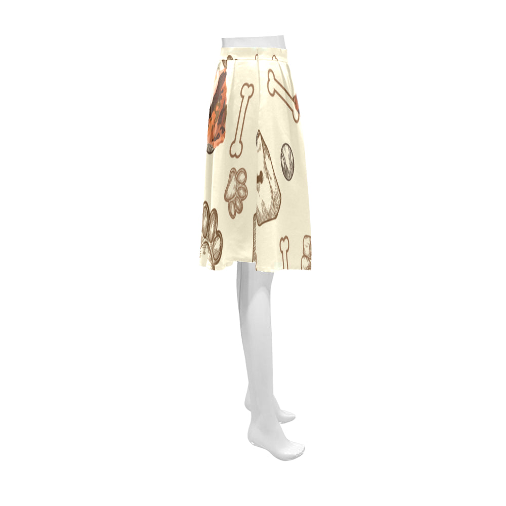 Airedale Terrier Athena Women's Short Skirt - TeeAmazing