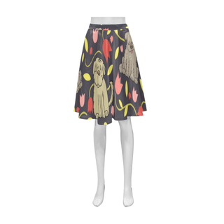 Tibetan Terrier Flower Athena Women's Short Skirt (Model D15) - TeeAmazing