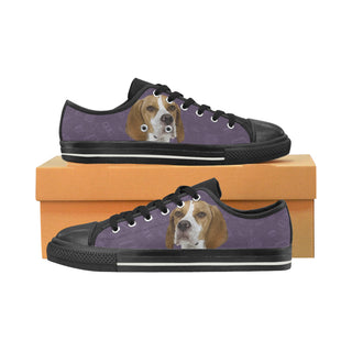 English Pointer Dog Black Women's Classic Canvas Shoes (Model 018) - TeeAmazing