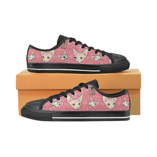 Sphynx Black Women's Classic Canvas Shoes - TeeAmazing