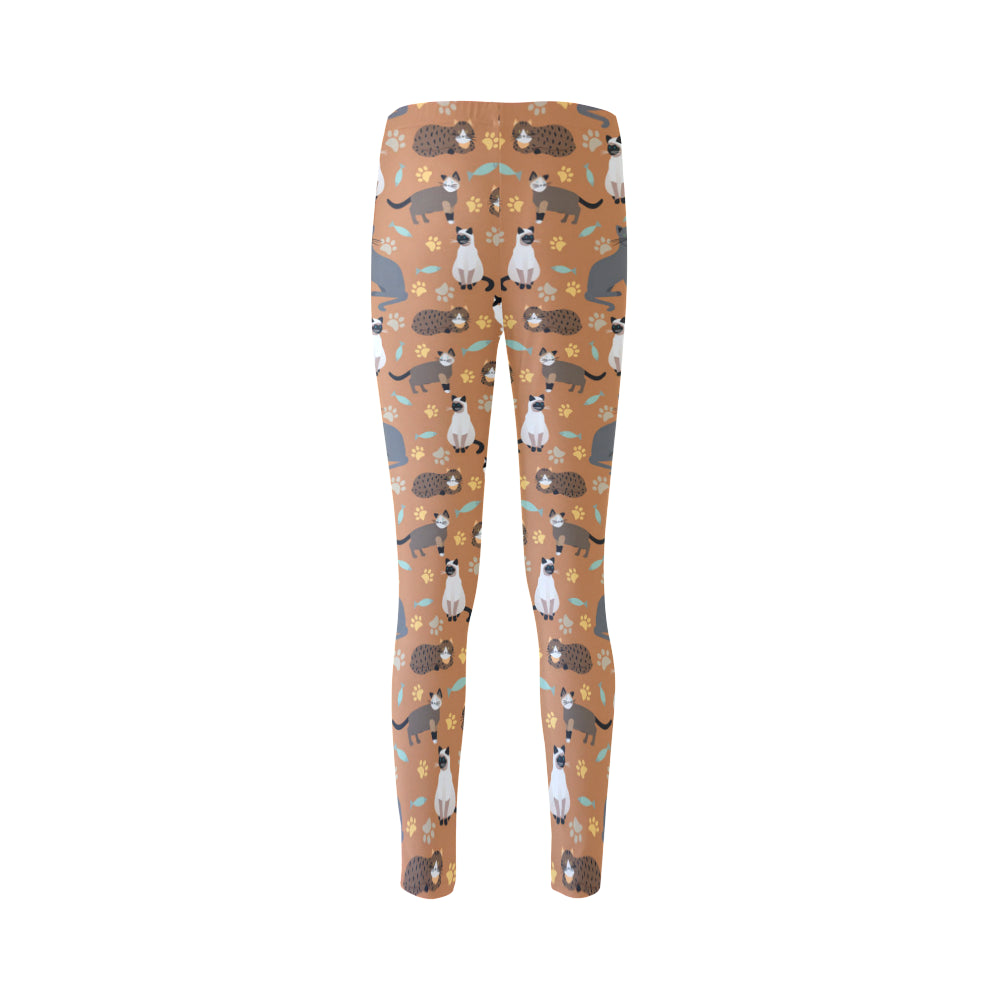 Cat Pattern Cassandra Women's Leggings - TeeAmazing