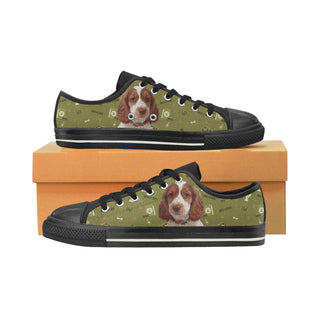 Sprocker Dog Black Women's Classic Canvas Shoes (Model 018) - TeeAmazing