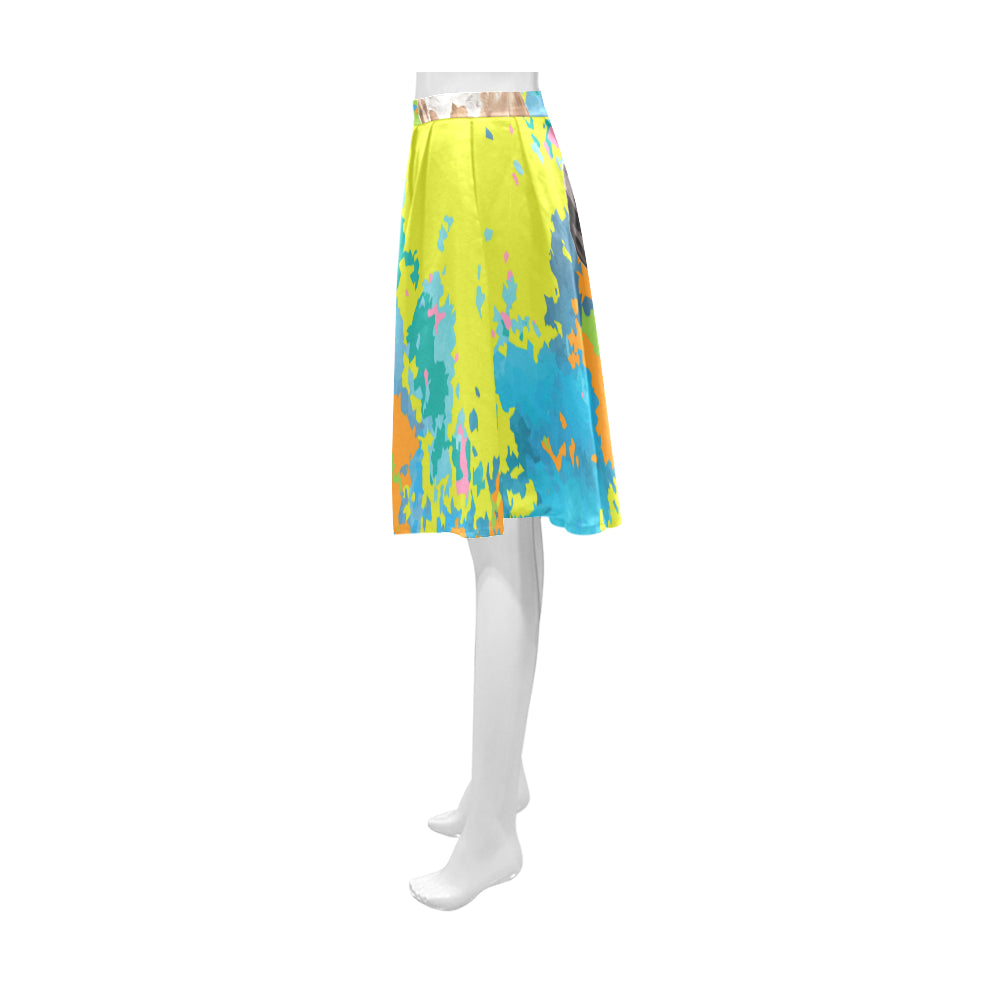 Boxer Water Colour No.2 Athena Women's Short Skirt - TeeAmazing