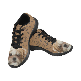 Maltese Shih Tzu Dog Black Sneakers for Women - TeeAmazing