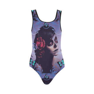 Sugar Skull Candy Vest One Piece Swimsuit - TeeAmazing