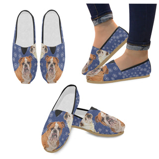 English Bulldog Lover Women's Casual Shoes - TeeAmazing