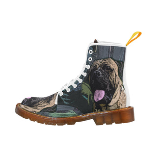 Bullmastiff White Martin Boots For Men Model 1203H - TeeAmazing